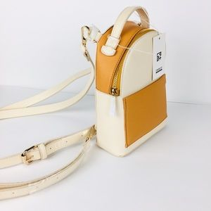 Boutique mustard gold mini backpack bag purse
